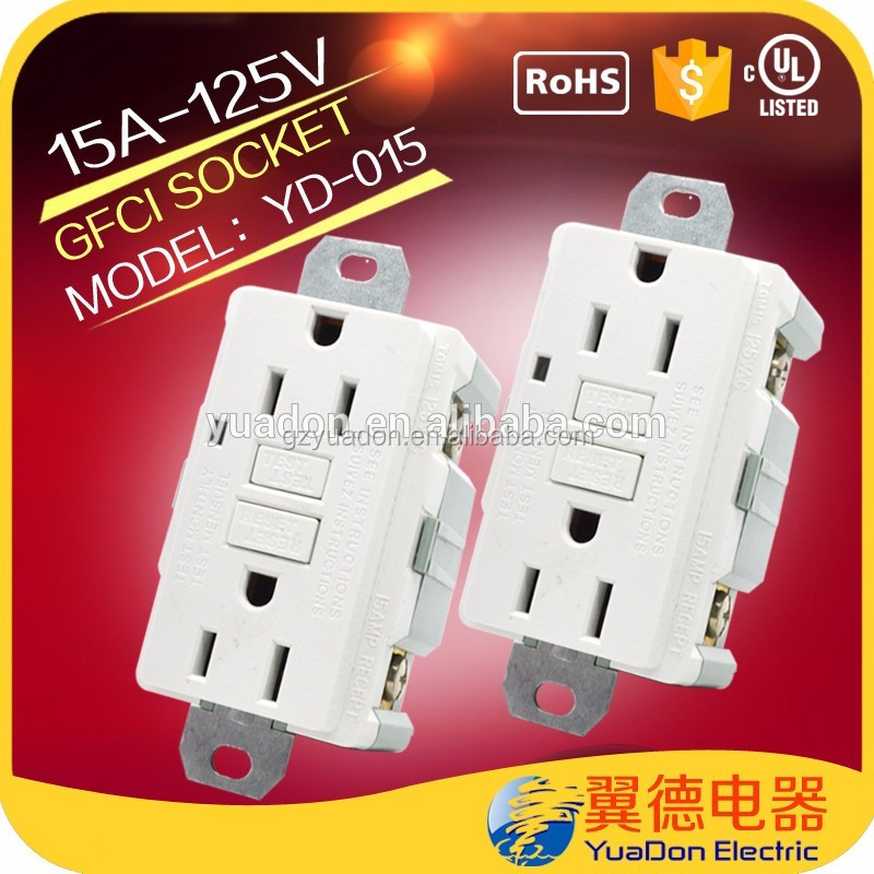 UL Approve Ivory Color Great GFCI USB Wall Outlet Sockets usa female sockets 220v receptacle outlets