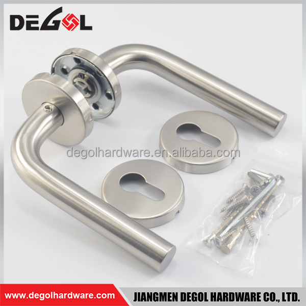 China wholesale double sided stainless steel heat resistant solid pipe antique lever door handles