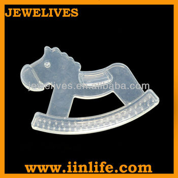 100% safe silicone baby teether horse design