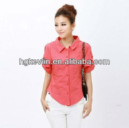 Women Summer Casual Wholesale Light lady buttons clothing