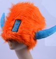 Factory direct sell Orange funny party hat carnival hat viking hat