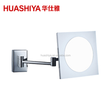 HSY1014 Led Lighted Wall Mount Magnifying Acrylic Cosmetic Mirror