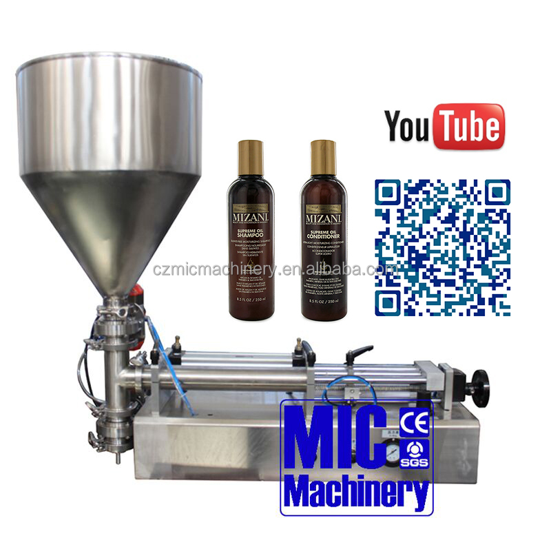 Micmachinery One nozzle and easy operation Honey/juice/manual jar filling machine