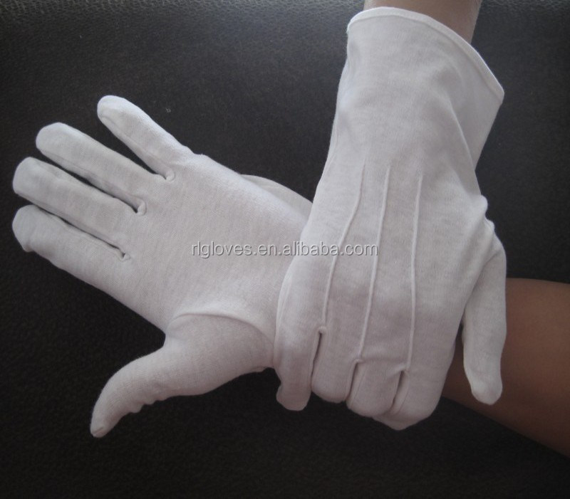 Parade Gloves,cotton with long or short cuff