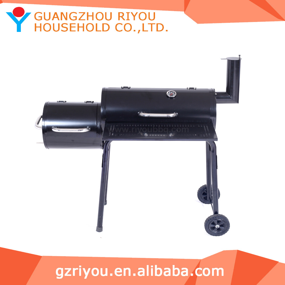 outdoor charcoal chicken grill machine with chimney