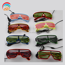 2017 Light Up Party Sunglasses Shutter Shape Led El Flashing Glasses For All Kinds of Party