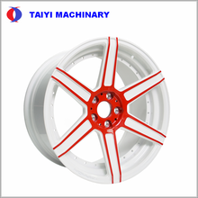 2018 White Red Color Forged Aluminum Alloy Wheel Rim
