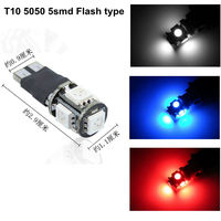 Normal T10 wedge 5050 5smd flashing 5050 smd led lighting bulb
