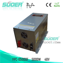 Suoer 4000W 5000W 6000W Pure Sine Wave Power Inverter 48V 220V DC to AC Inverter
