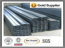 c channel steel price/steel channel/galvanized steel high hat furring channel