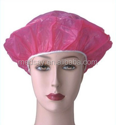 Popular disposal PE shower cap