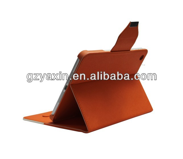 Manufacturer double color leather case for retina ipad mini