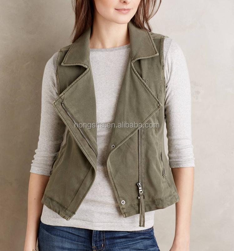 Ladies Sexy Knit Moto Vest Fashion Vests For Women Hsv5306 ...