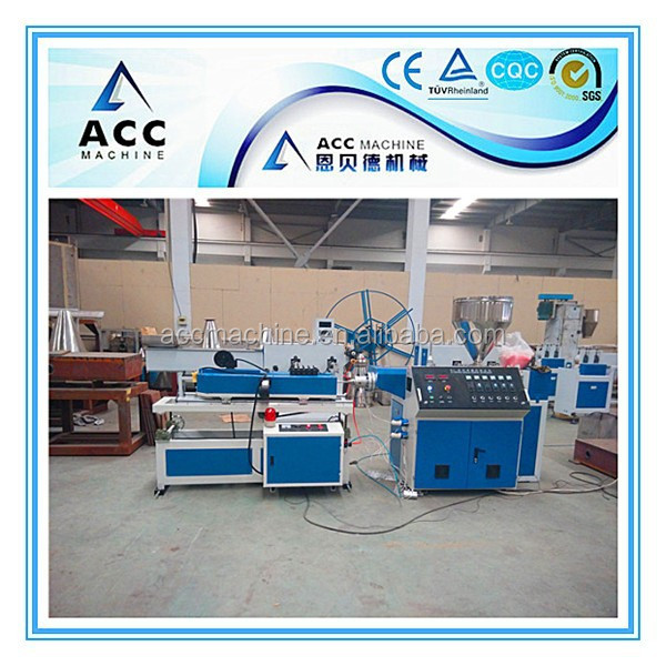 Small single wall corrugated pipe making machine