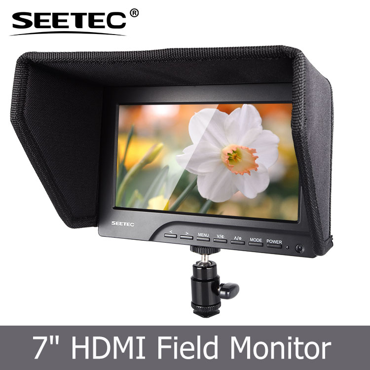 "SEETEC display field monitor 7"" lcd tripod monitor with TFT"