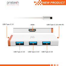 High speed usb 3.0 hub typc C usb C hub 6 ports