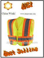 Safety Vest, Surveyor Class 2, Hi-Vis Orange, Knit Front Mesh Back