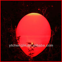 Fire red wedding decoration led balloon/ led flying balloon for kids play