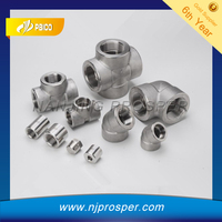 Stainless steel female threaded pipe fitting /forged elbows&tees cross(YZF-P70)