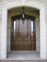 100% mahogany /oak/alder /cherry wood entry door with sidelites