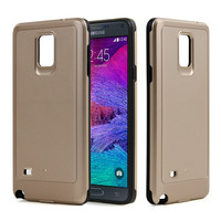 2016 hot selling gold color 2 in 1 pc tpu cell phone case for samsung galaxy note 4