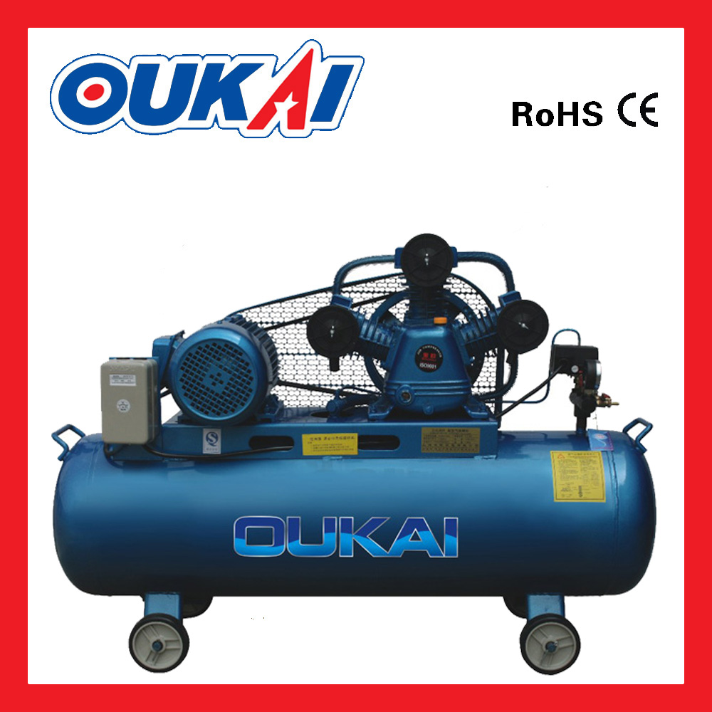 Factory direct sale energy saving belt drive 300L 4HP reciprocating piston air compressor