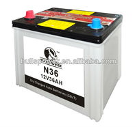 N36 JIS standard car battery automotive battery