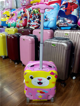 Factory direct 3D cartoon bear abs+pc kids luggage kids school bag with wheels