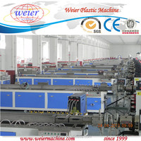 wpc decking terrace board making machine / wood plastic composite production line