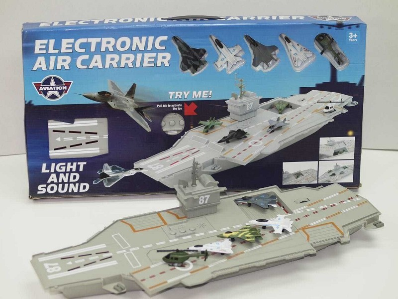 Battery Operation Carrier Model with five plane and sound and light for kids