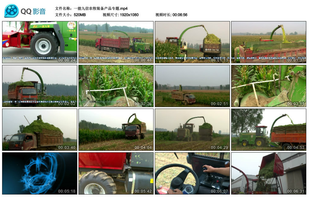 9QSZ-3000 Green(yellow) Forage Harvester cutting for green soiling