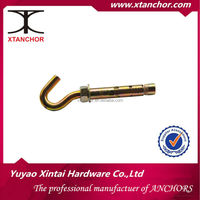 m12x16x145 open hook C shape turkey sleeve anchor yzp Hex bolt type sleeve anchor plastic ring