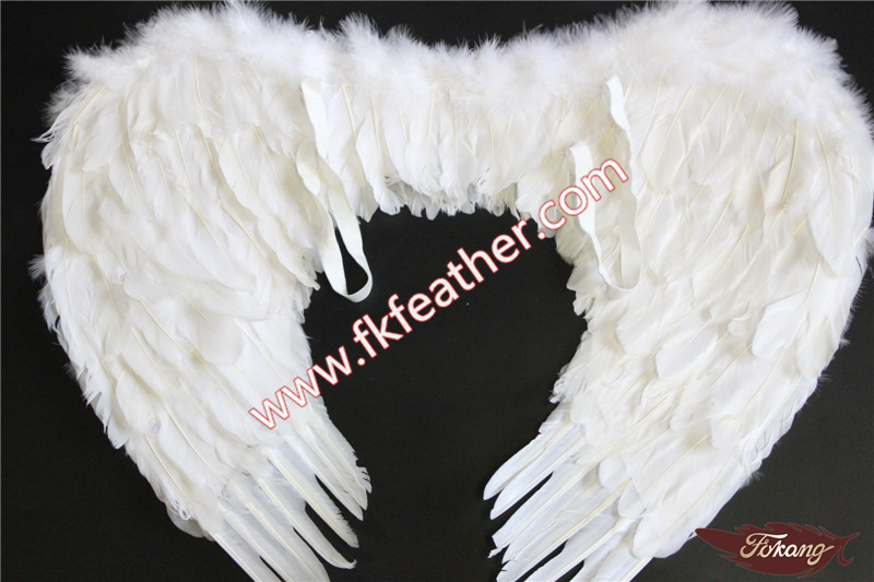 Event Decoration Craft Large Black Angel Wings Goose Feather