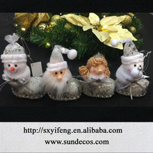 hanging santa, snowman, angel items for christmas tree decoration