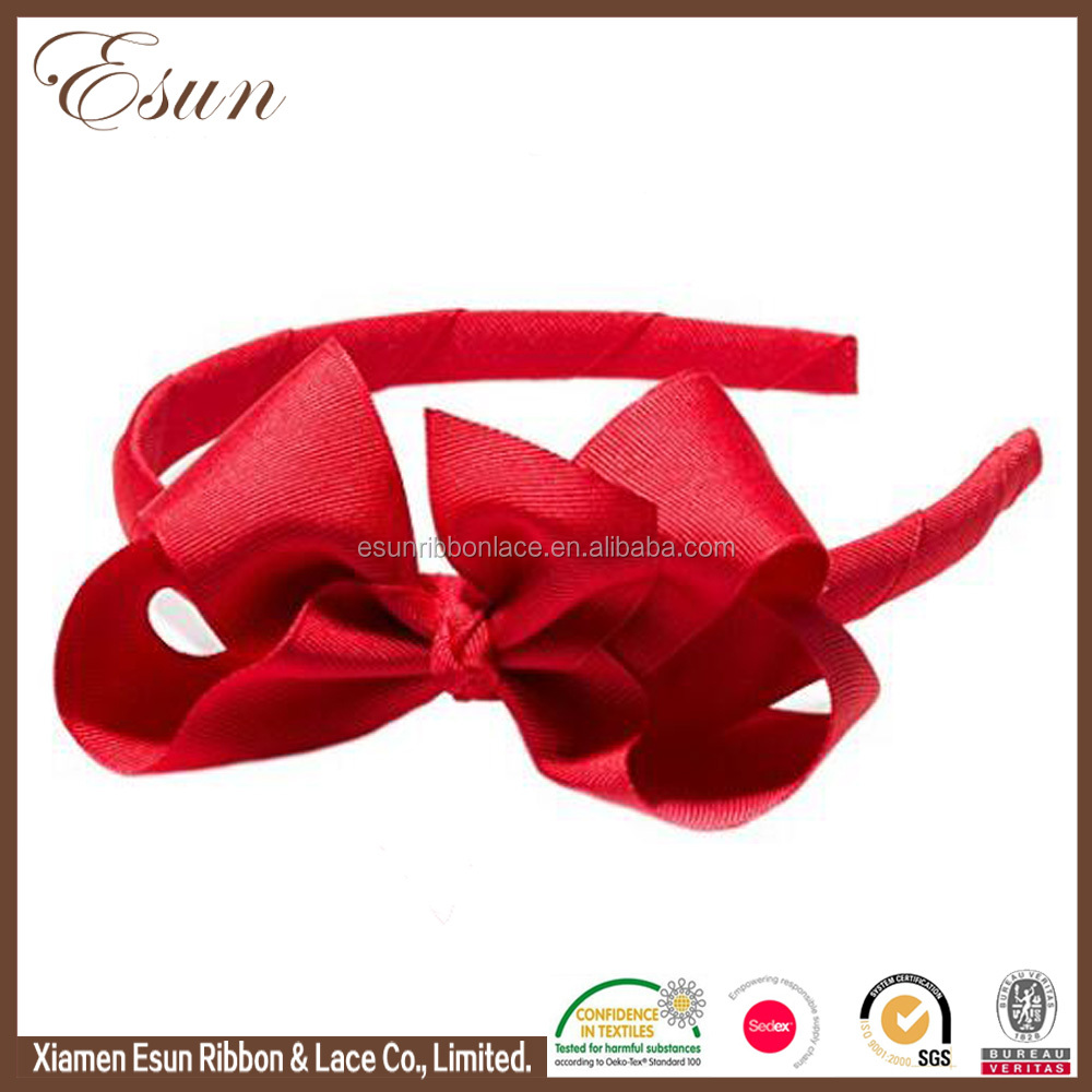 Discount price ribbon made grosgrain bow hair accessories custom knit headband