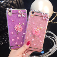 New Arrival Luxury Diamond Rhinestone Electroplate Cell Phone TPU Case for iPhone 7 Back Cover