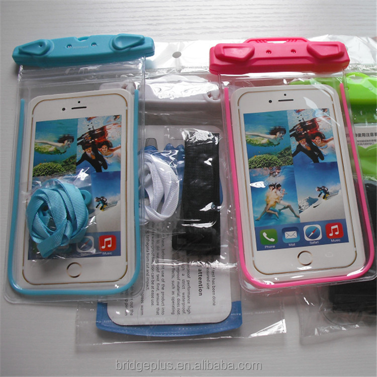 Custom high quality IPX8 silicone waterproof case for cell phone