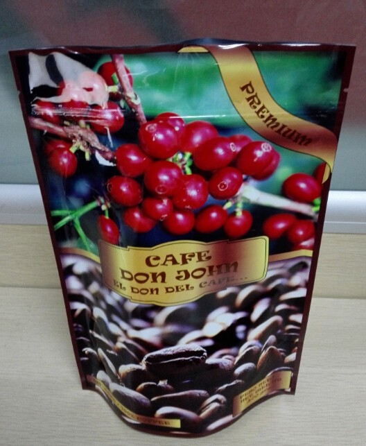 Food grade stand up pouch With Zipper For Custom Printing coffee bag christmas