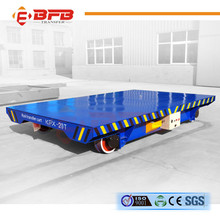 20t electric power rail flat car for heavy duty tank transporting