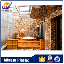 pvc waterproof plastic washable wall board for bathroom