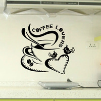 9200 coffee lovers Wall Stickers feel better Wall Decals For Kitchen DIY Home Decorations new Wall Decals