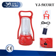Yajia YJ-5833TP camping led rechargeable and solar power system emergency lantern