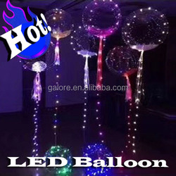 IB010 factory sells custom logo printed flashing led balloon