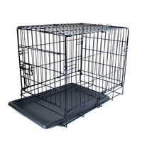 china supplier strong folding metal dog cage with double doors UK market