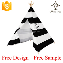 Cotton Canvas Kids Teepees Play Tent Indoor Dream House Kids Teepee
