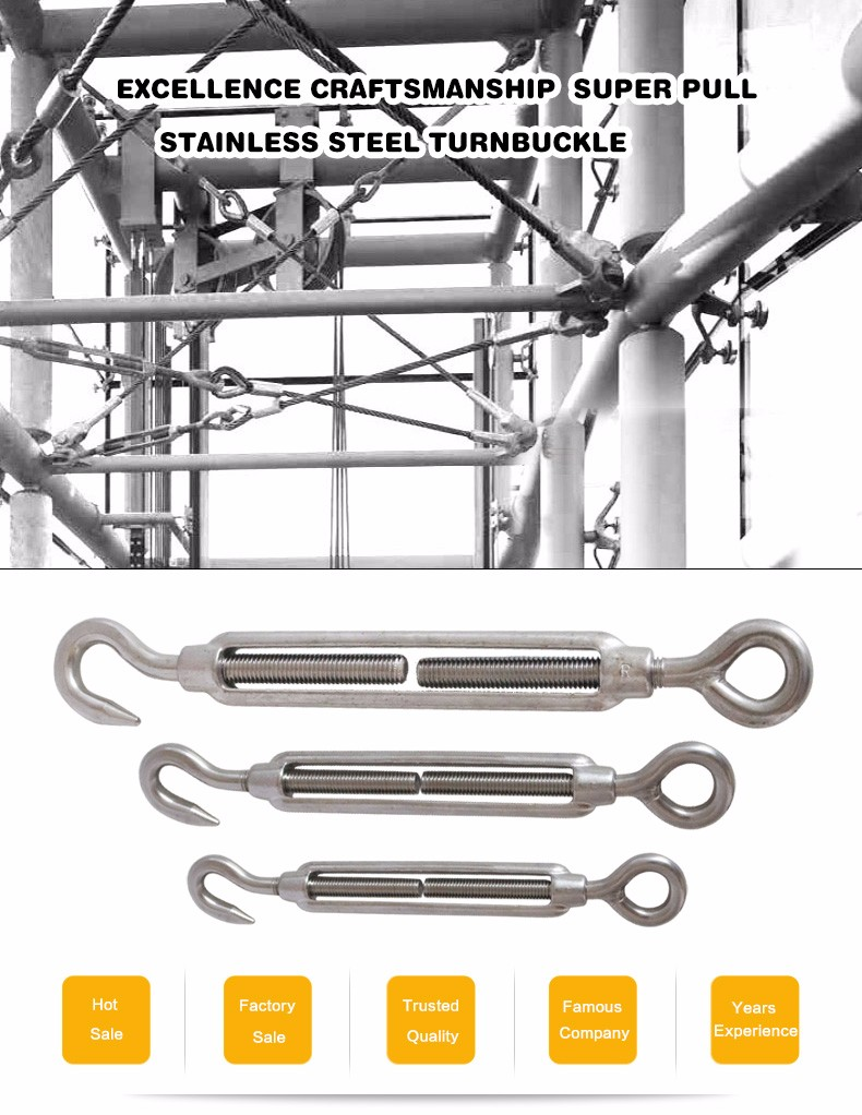 stainless steel wire rope turnbuckles