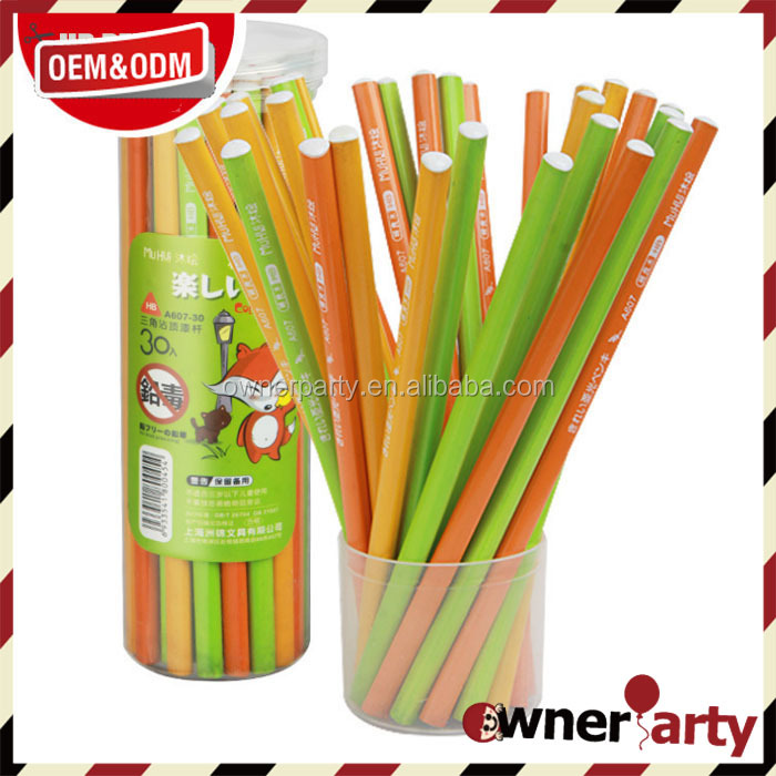 Factory Price Color Paint Custom Printed Wooden Pencil