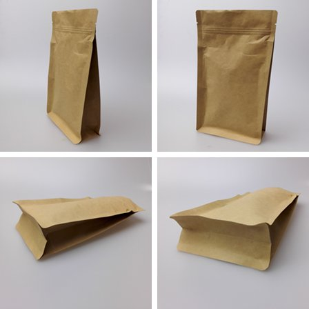 kraft paper bag with window and zipper food packaging bag