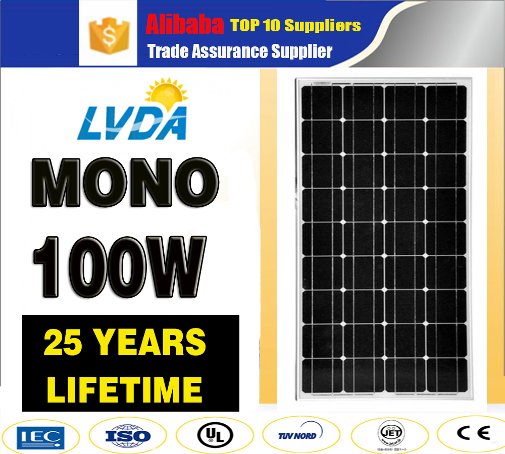 Hot Sale China Supplies Promotional High Quality 100W Solar Panel mono/ solar panel monocrystalline 100w solar panel for sale