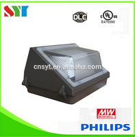 E476590 UL cUL DLC Approval CRI>80 120w led wall pack with photocell sensor
